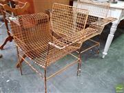 Sale 8480 - Lot 1095 - Pair of Vintage Metal Armchairs