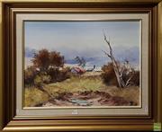 Sale 8600 - Lot 2059 - Marcia Kirby - Landscape Tilba Valley oil on canvas board, 44.5 x 60cm, signed lower left