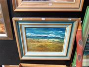 Sale 8695 - Lot 2033 - Ray Dargan - Winter, Lake Bathurst 1989 oil on board, signed and dated lower right, 29.5 x 39.5cm