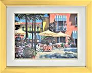 Sale 8778A - Lot 5047 - Howard Behrens - Inn at Lake Garda 62 x 52cm (frame)
