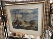 Sale 8789 - Lot 2137 - Margaret Cohen Blue Mountains watercolour, 46x59cm, signed lower right