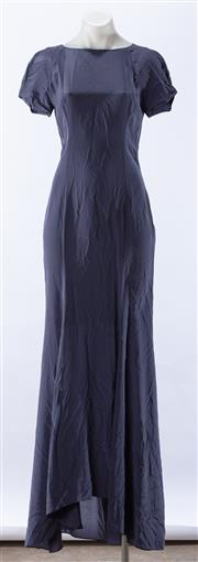 Sale 8910F - Lot 65 - A blue silk floor length navy dress by Antonio Marras, size 42, as new with tags, made in Italy