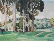 Sale 8867A - Lot 5014 - Beatrice Kelly (1904 - 1992) - Yellow Barn, Bathurst, 1947 26 x 36 cm