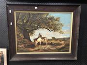 Sale 8861 - Lot 2009 - M. Faltner - Watering the Horses, Oil, SLL, 44.5x60cm as viewed