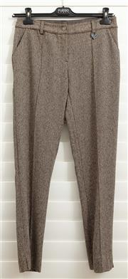 Sale 8902H - Lot 137 - A pair of DP Jeans brown and white check woollen type pants with central seam, size 38