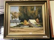 Sale 8981 - Lot 2001 - M. Peryman Narrabeen Lake oil on board, 51 x 59cm (frame), signed lower right