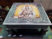 Sale 8495F - Lot 1013 - Ganesh Metal Clad Foot Rest