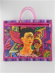 Sale 8514H - Lot 20 - Frida Kahlo Tote Bag w zip pocket & short handle