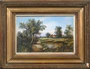 Sale 8675A - Lot 5074 - G. Crosby (1949 - ) (2 works) - Country Cottages 17 x 27.5cm, each
