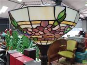 Sale 8589 - Lot 1074 - Leadlight Up Lamp