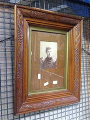 Sale 8767 - Lot 2094 - Photograph of Woman in Carved Frame