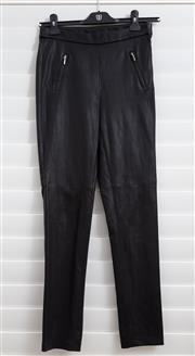 Sale 8902H - Lot 146 - A pair of Meredith & Moore leather blend pants, with zip pockets to front, size 8