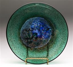 Sale 9122 - Lot 13 - Kosta Boda Art Glass Dish - Signed D Vallien to base - Dia:37.5cm
