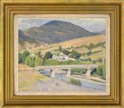 Sale 8325 - Lot 582 - Henry Hanke (1901 - 1989) - Country Landscape 37 x 44cm
