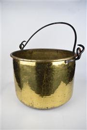 Sale 8381 - Lot 85 - Brass Swing Handled Pot
