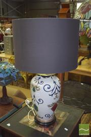 Sale 8390 - Lot 1162 - Ceramic Lamp with Shade