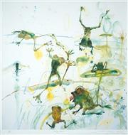 Sale 8475 - Lot 541 - John Olsen (1928 - ) - Frog Pond 86 x 82.5cm (frame size: 115 x 111cm)