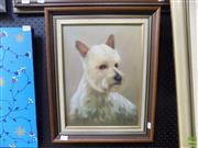 Sale 8561 - Lot 2010 - Artist Unknown, My Dog, oil on canvas, 39 x 29cm, signed lower right