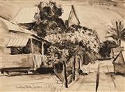 Sale 8624 - Lot 514 - Donald Friend (1915 - 1989) - Malaytown, Cairns 1941 26 x 35.5cm