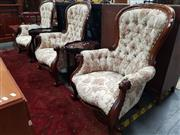 Sale 8676 - Lot 1045 - Set of Three Grandmother Chairs