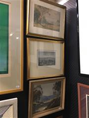 Sale 8674 - Lot 2036 - Landscape Paintings (2) and a Print (1) -