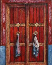 Sale 8732A - Lot 5016 - Stanley Perl (1942 - ) - Doors of India, no.10 50 x 40.5cm
