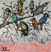 Sale 8826A - Lot 5019 - Yosi Messiah (1964 - ) - Birds of Paradise 102 x 102cm