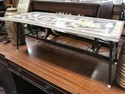 Sale 8822 - Lot 1536 - Vintage Coffee Table with Printed Top