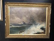 Sale 8861 - Lot 2008 - Artist Unknown - The Rocks, Oil, 54.5x75cm