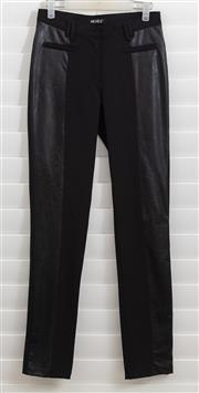 Sale 8902H - Lot 169 - A pair of Michele black pants with leatherette side panels, UK size 8