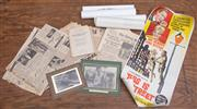 Sale 8984H - Lot 95 - A collection of Ephemera including early SMH copies from the 1950s together with movie posters and small booklets of Australian inte...