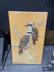 Sale 8981 - Lot 2074 - Vintage Needlework of The Kookaburra, 70 x 43cm