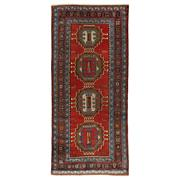 Sale 9020C - Lot 9 - Antique Caucasian Karabagh Rug, 125x280cm, Handspun Wool