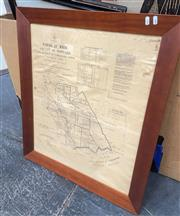 Sale 9087 - Lot 2071 - A Reproduction map of the Land District of Tumbarumba, frame: 81 x 69 cm -