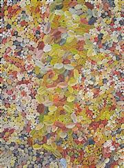 Sale 8321 - Lot 594 - Lynette Corby Nungurrayi (1958 - ) - Rock Holes 95 x 70cm