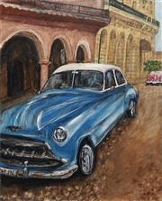 Sale 8791A - Lot 5005 - Stanley Perl (1942 - ) - Cars of Cuba II 60 x 50.5cm