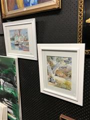 Sale 8807 - Lot 2100 - 2 Watercolours by Sue OLoughlin (various sizes)