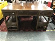 Sale 8809 - Lot 1097 - Oriental Twin Pedestal Desk