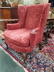 Sale 8831 - Lot 1044 - Georgian Style Wingback Armchair