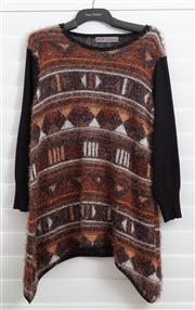 Sale 8902H - Lot 113 - A Zaraun long jumper with brown patterned torso and black sleeves, Euro size M