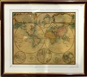 Sale 8932 - Lot 2070 - Planiglobii Terrestris Mappe Monde 1746, Homann, 54x64.5cm -