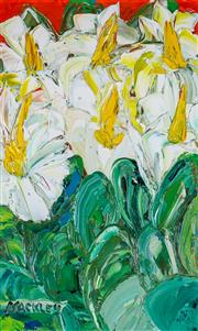 Sale 8972A - Lot 5004 - Evan Mackley (1940 - 2019) - A Bed of Lillies 40 x 25 cm