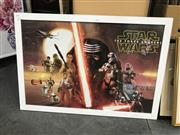 Sale 9045 - Lot 2056 - STAR WARS: The Force Awakens poster 67 x 97cm (frame)