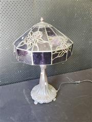 Sale 9051 - Lot 1058 - Large Leadlight Lamp