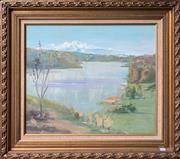 Sale 9072 - Lot 2023 - Artist Unknown A Sydney Harbour Scene oil on board,  frame:70 x 81cm, unsigned