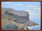 Sale 8286 - Lot 587 - Robert Little (1854 - 1944) - Whale Beach Headland 26 x 35.5cm