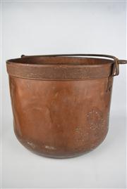 Sale 8381 - Lot 137 - Copper Swing Handled Pot