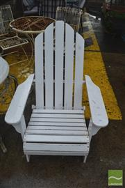 Sale 8383 - Lot 1403 - Pair of White Painted Outdoor Chairs