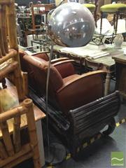 Sale 8412 - Lot 1075 - Chrome Arc Lamp