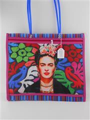 Sale 8514H - Lot 23 - Frida Kahlo Tote Bag w zip pocket & long handle